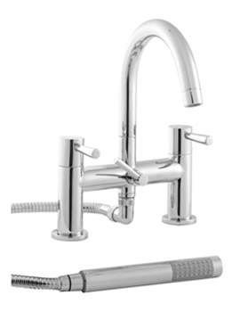 Siron 2 Hole Deck Mounted Bath Shower Mixer Tap -SN5265CP