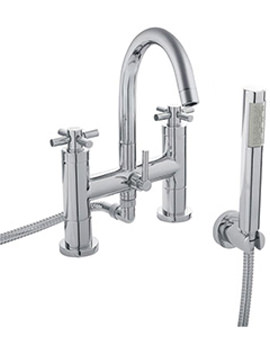 Tec Crosshead Bath Shower Mixer Tap With Kit - TEX354