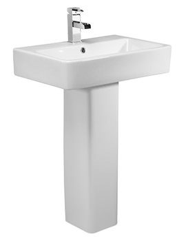 Tavistock Q60 575mm Ceramic Basin And Pedestal - SB900S - PE900S