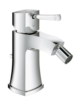 Grandera Chrome Bidet Mixer Tap With Pop Up Waste Set - 23315000