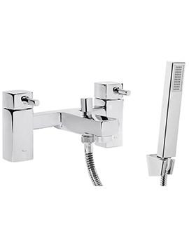 Related Tavistock Logic Deck Mounted Bath Shower Mixer Tap With Kit - TLG42