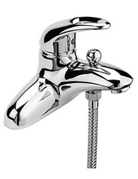 Latina Deck Mounted Bath Shower Mixer Tap with Shower Kit