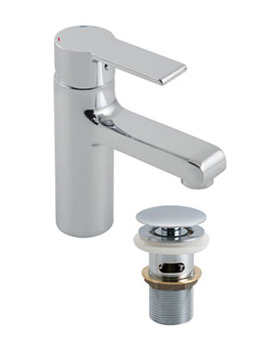 Ion Mono Basin Mixer Tap With Clic-Clac Waste - ION-100-CC