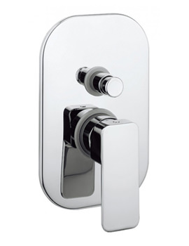Crosswater Atoll Recessed Manual Shower Valve With Diverter