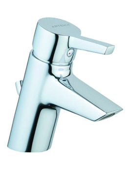 Slope Basin Mixer Tap With Pop-up Waste Chrome - A40460VUK