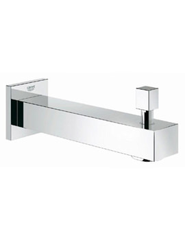 Grohe Eurocube Wall Mounted Chrome Bath Spout With Diverter - 13304000