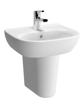 VitrA Zentrum 450mm 1 Tap Hole Basin And Semi Pedestal