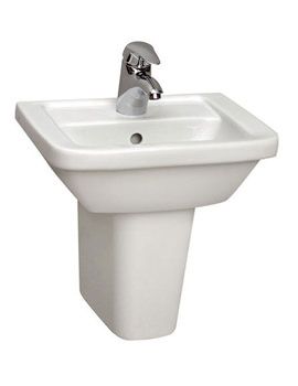 Form 300 Washbasin 55cm With Full Pedestal - 5241L003-0999