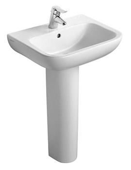 Portman 21 55cm 1 Taphole Pedestal Basin With Overflow