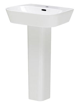 Famham 600mm 1 Tap Hole Basin And Full  Pedestal - CFA002