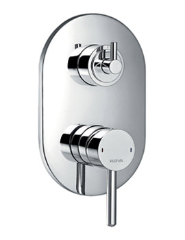 Levo Concealed Manual Shower Valve With 3 Way Diverter