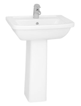 VitrA Form 300 Washbasin 60cm With Full Pedestal - 5242L003-0999