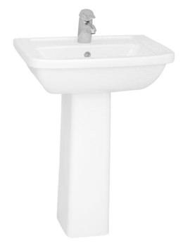 Form 300 Washbasin 60cm With Full Pedestal - 5242L003-0999