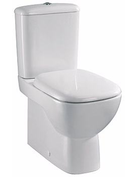Twyford Moda Flushwise Close Coupled Back-To-Wall WC 640mm And Cistern