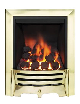 Mayfair Slimline Thermostat Inset Gas Fire Brass- Coal 81515
