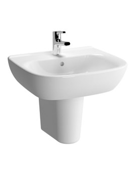 Zentrum 550mm 1 Tap Hole Basin And Semi Pedestal