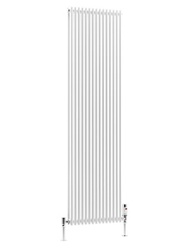 DQ Heating BKV16 White 6 Sections Double Vertical Radiator 170 x 1810mm