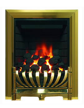 Classic Traditional Full Depth Inset Gas Fire Brass - 9555