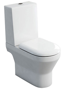 Curve S30 Open Back Close Coupled WC With Cistern Lid