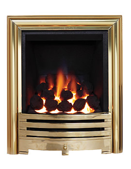 Be Modern Contessa Slimline Inset Gas Fire Brass - 81493