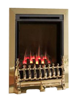 Flavel Windsor Manual Control Traditional HE Gas Fire Brass - FSHC11MN