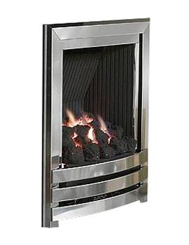 Flavel Linear Manual Control Full Depth Gas Fire Silver-Coal FRDCU0MN