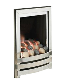Manual Control Full Depth Gas Fire Silver-Pebble - FRDPU0MN