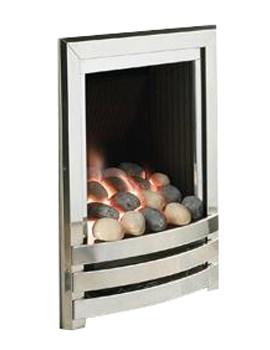 Linear Manual Control Full Depth Gas Fire Silver-Pebble - FRDPU0MN