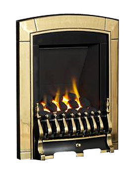 Caress Slide Control Slimline Inset Gas Fire Brass - FNVCBCSN