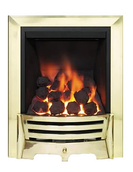 Mayfair Full Depth Thermostat Inset Gas Fire Brass Coal 81523
