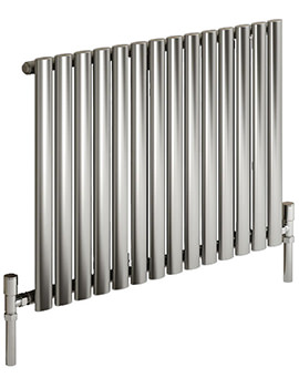 Reina Nerox Single Brushed Horizontal Radiator 826mm Wide x 600mm High