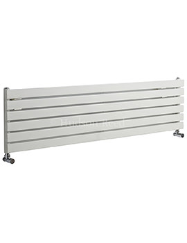 Sloane Single Panel Horizontal White Radiator 1800x354mm