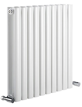 DQ Heating Cove 826 x 550mm Double Sided Horizontal Radiator White