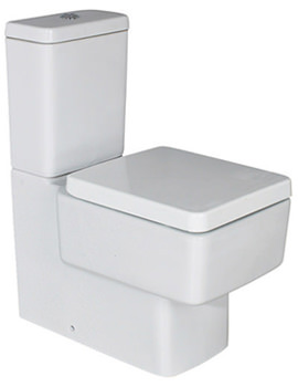 Qube Modern Back to Wall Close Coupled Design WC