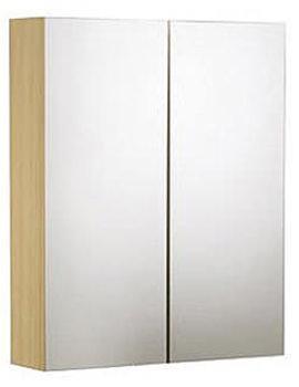 Signatures Double Mirror Door Cabinet Oak 600mm - SGC6NO