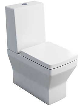 Cube S20 Close Coupled Pan With Cistern - Lid - Soft Close Seat