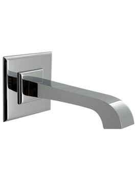 Noken Dune Wall Mounted Chrome Bath Spout