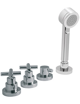 Elements Water 4 Hole Bath Shower Mixer Without Spout - ELW-135-NS