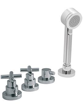 Elements Water 4 Hole Bath Shower Mixer Without Spout - ELW-135-NS