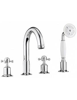 Related Crosswater Belgravia Crosshead 4 Hole Bath Shower Mixer With Kit