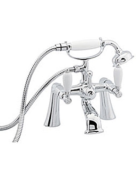 Deva Georgian Pillar Mounted Bath Shower Mixer Tap Chrome - GEO3
