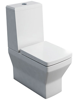 Cube S20 Close Coupled WC With Cistern Angled Lid