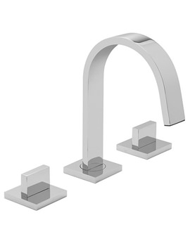 Geo 3 Hole Basin Mixer Tap Deck Mounted - GEO-101