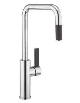 Cucina Tone Side Lever Kitchen Sink Mixer Tap With Pull Out Spray