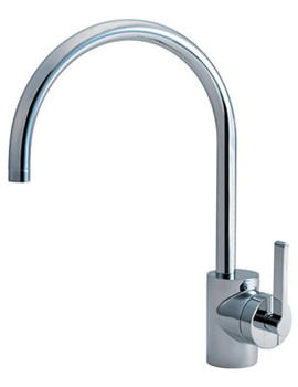Silver Single Lever Sink Mixer Tap - E0083AA