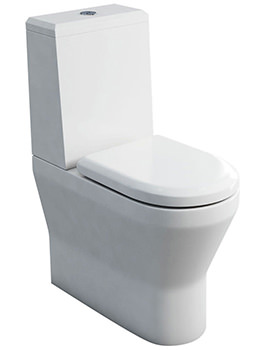 Tall S48 Close Coupled WC With Cistern Angled Lid And Seat