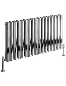 Cove 413 x 600mm Stainless Steel Double Horizontal Radiator