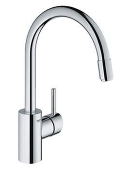 Concetto Chrome Single Lever Monobloc Sink Mixer Tap - 32663001