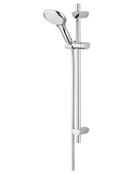 Evo White-Chrome Adjustable Shower Kit With Handset