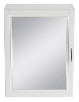 Caversham White Ash 500mm Mirror Wall Cabinet - KWA37